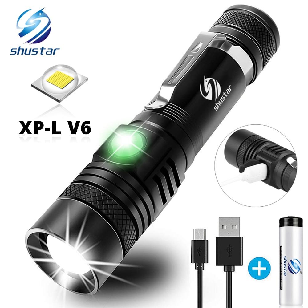 Linterna LED Shustar ultrabrillante LED XP-L