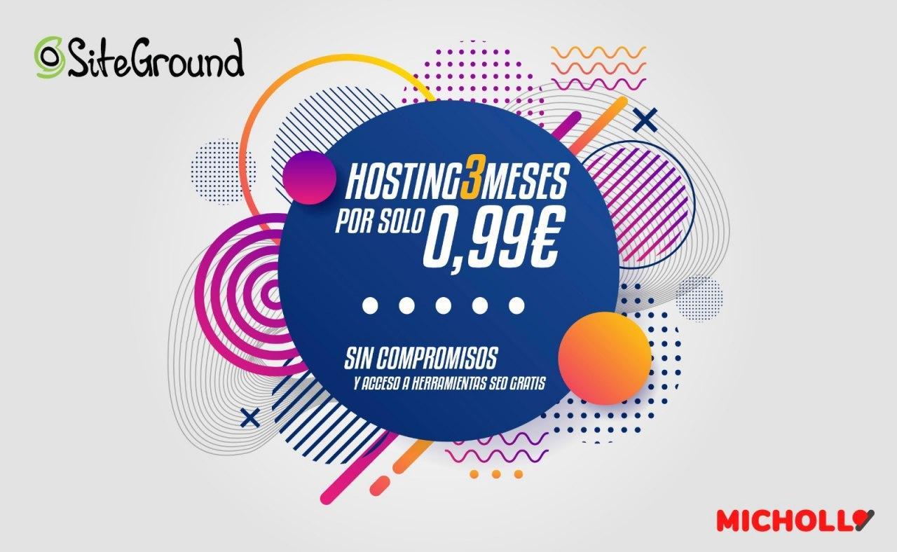 Chollo 3 Meses de Hosting Siteground
