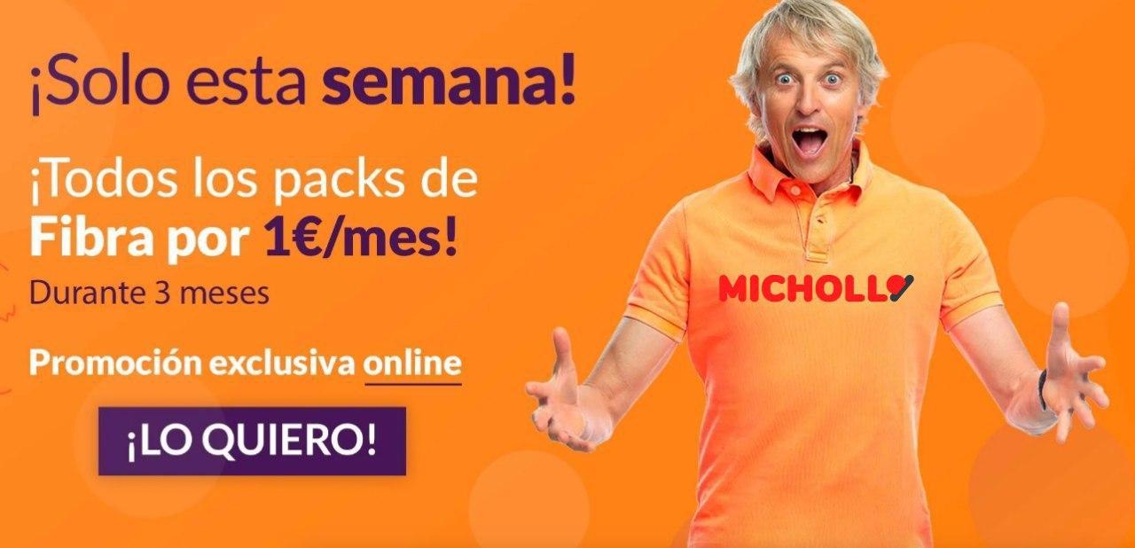 Packs de Fibra Adamo 1€ / mes durante 3 Meses