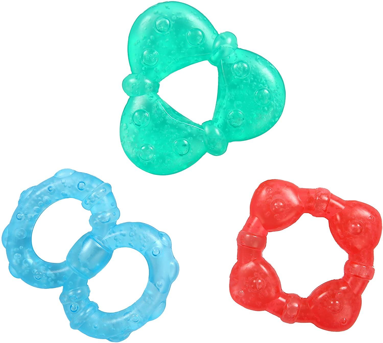 Tres anillos de dentición para bebé