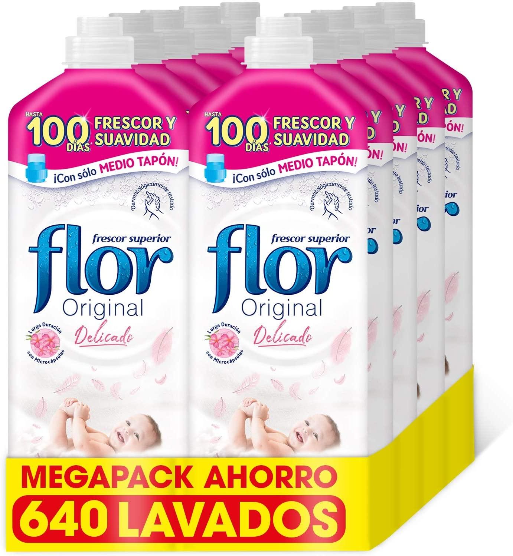 Pack de 8 Suavizante Flor Original Delicado de 640 Dosis