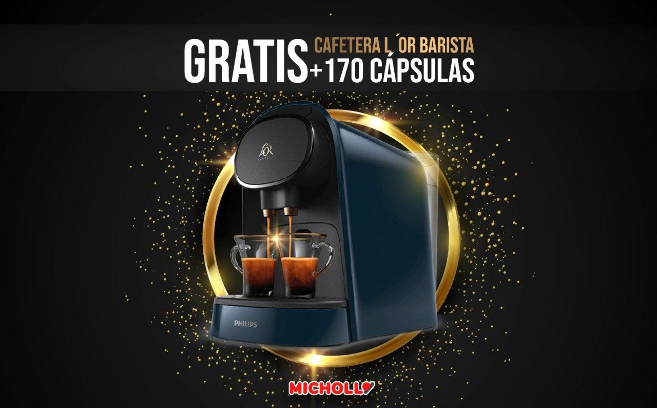 Cafetera L'OR Barista + 170 Cápsulas