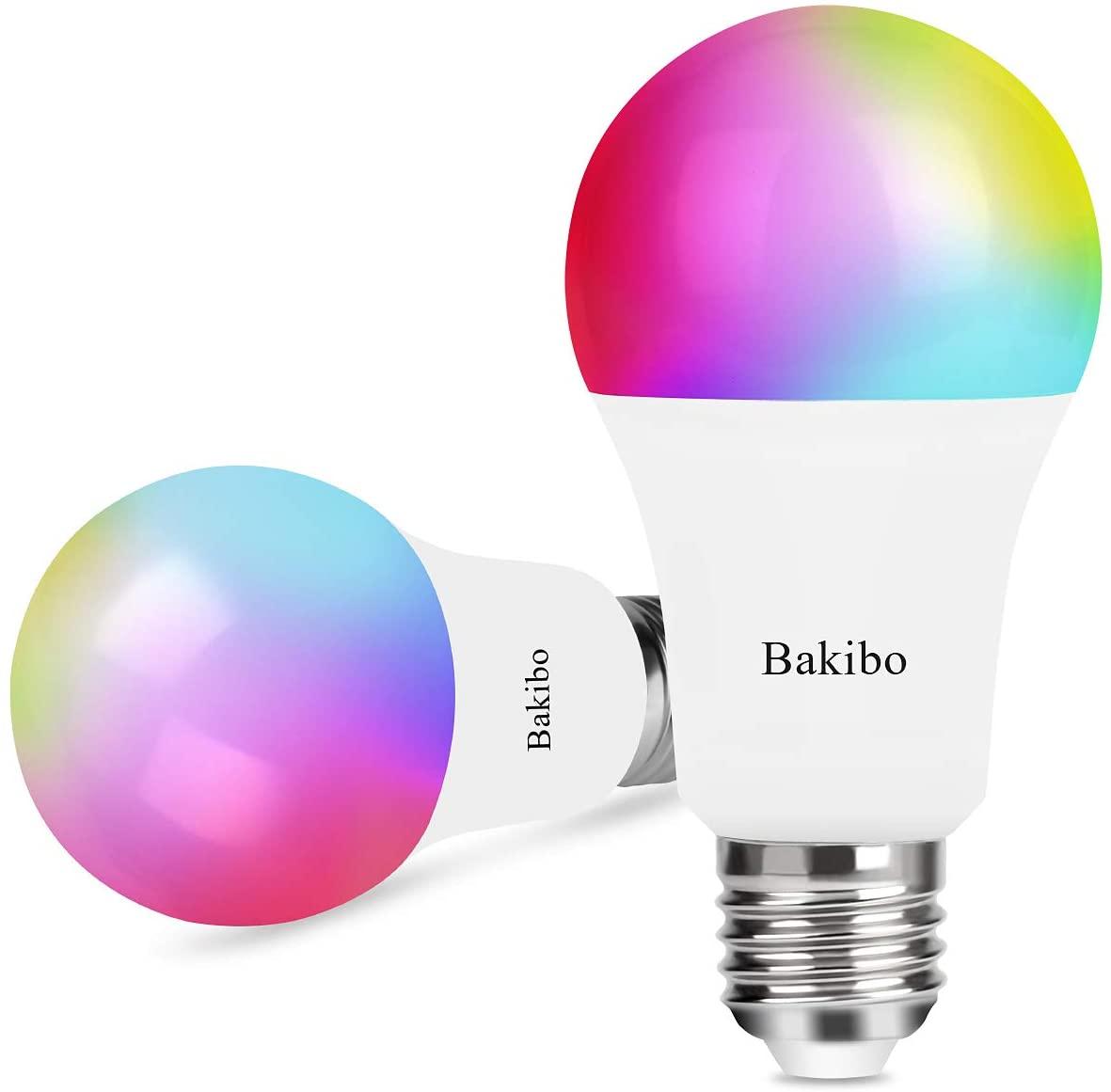 Pack de 2 bombillas LED RGB de 60w con