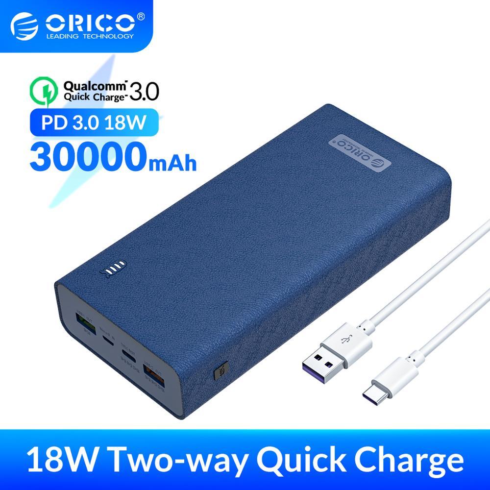 ORICO PowerBank 30000mAh QC3.0 PD3.0 18W