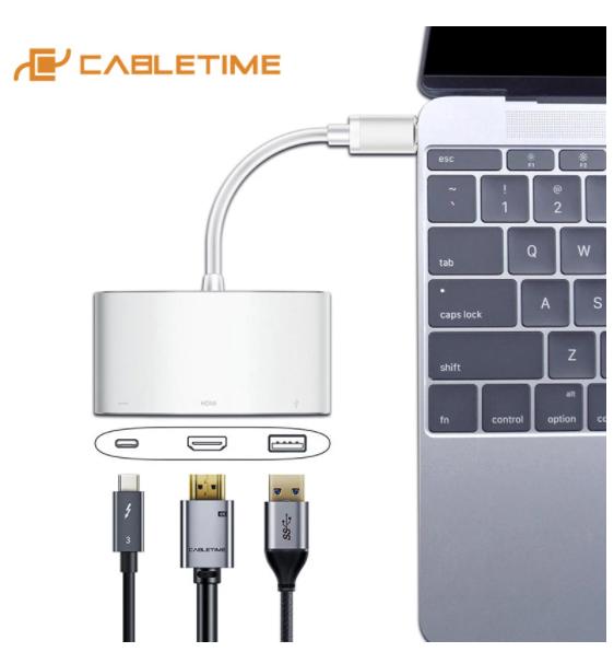 Switch USB C 3 en 1 Cabletime