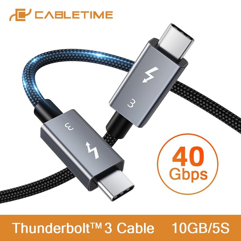 Cable USB-C 100W Cabletime 1M