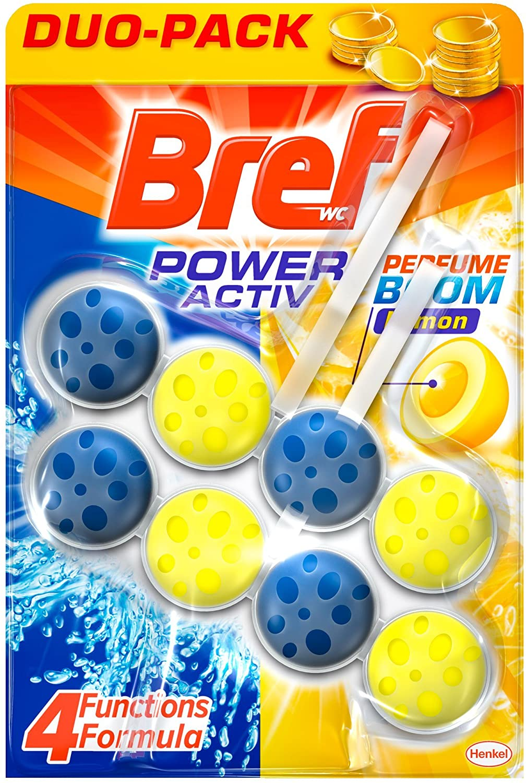 Bref Poder Activo Limón Duplo Colgador WC - 2 x 50 ml