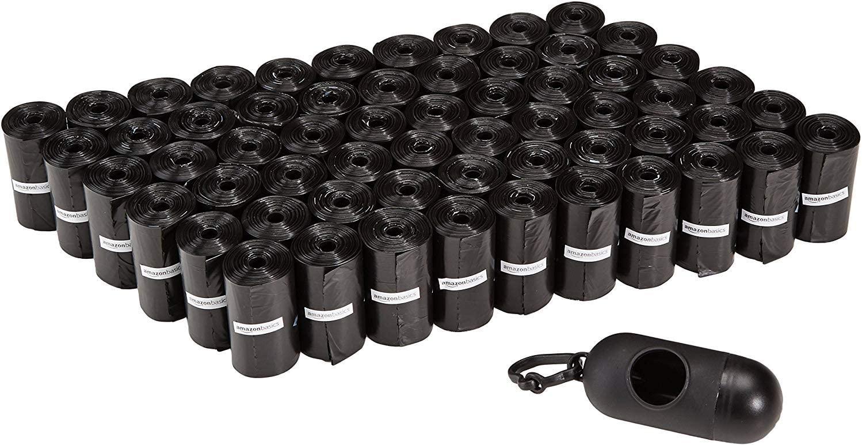 Bolsas para excrementos de perro con dispensador y clip para correa 900 unidades