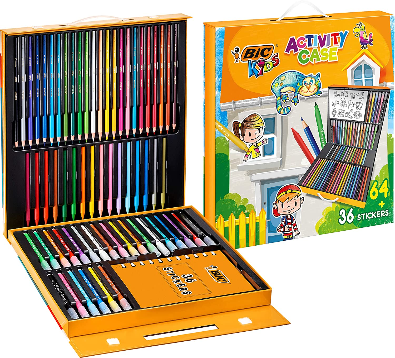 Maletín BIC Kids 64 colores + 36 adhesivos para Niños