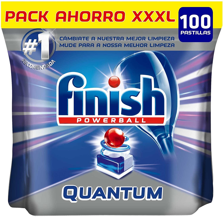 100 Pastillas Lavavajillas Finish Powerball Quantum Max