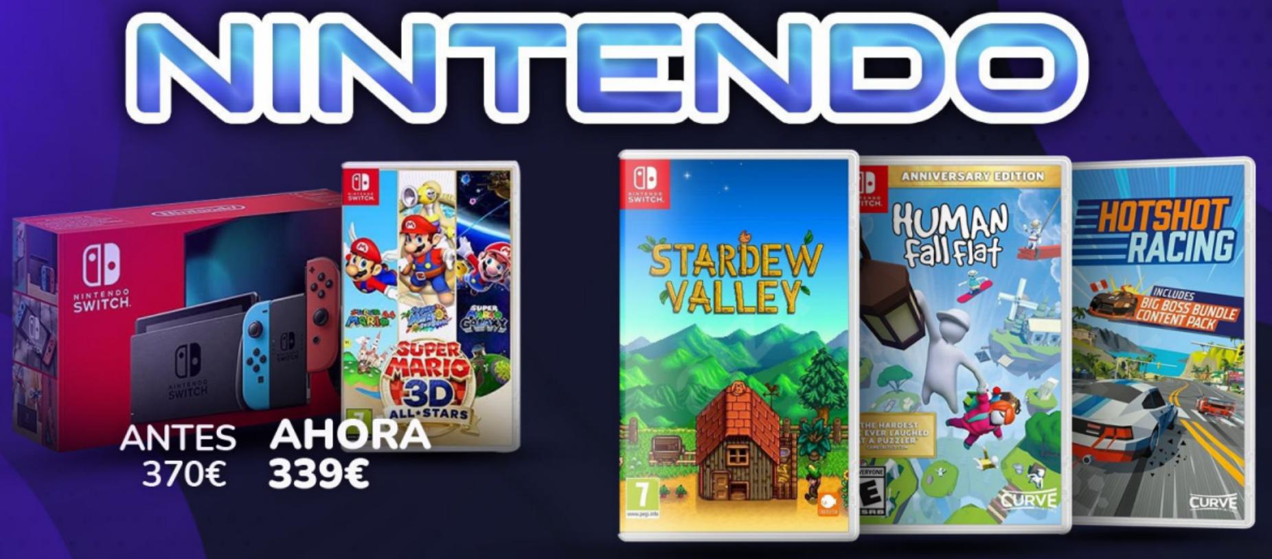 Descuentazos en juegos de Nintendo Switch en Prime Day
