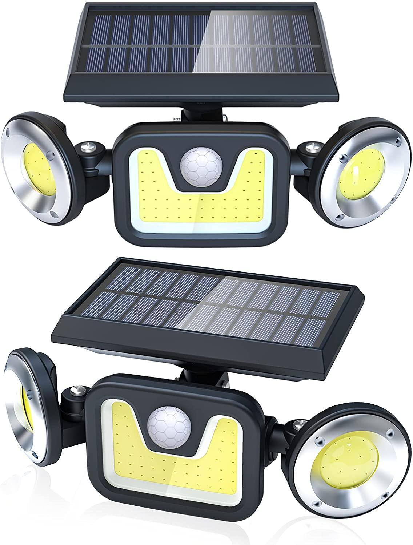 Pack 2 Luces Solares de Exterior LED COB