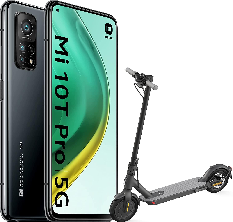 Pack Xiaomi Mi 10T Pro 5G Negro 8GB 128GB + Mi Electric Scooter 1S