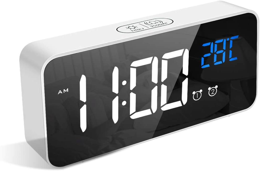 Despertador LED termómetro