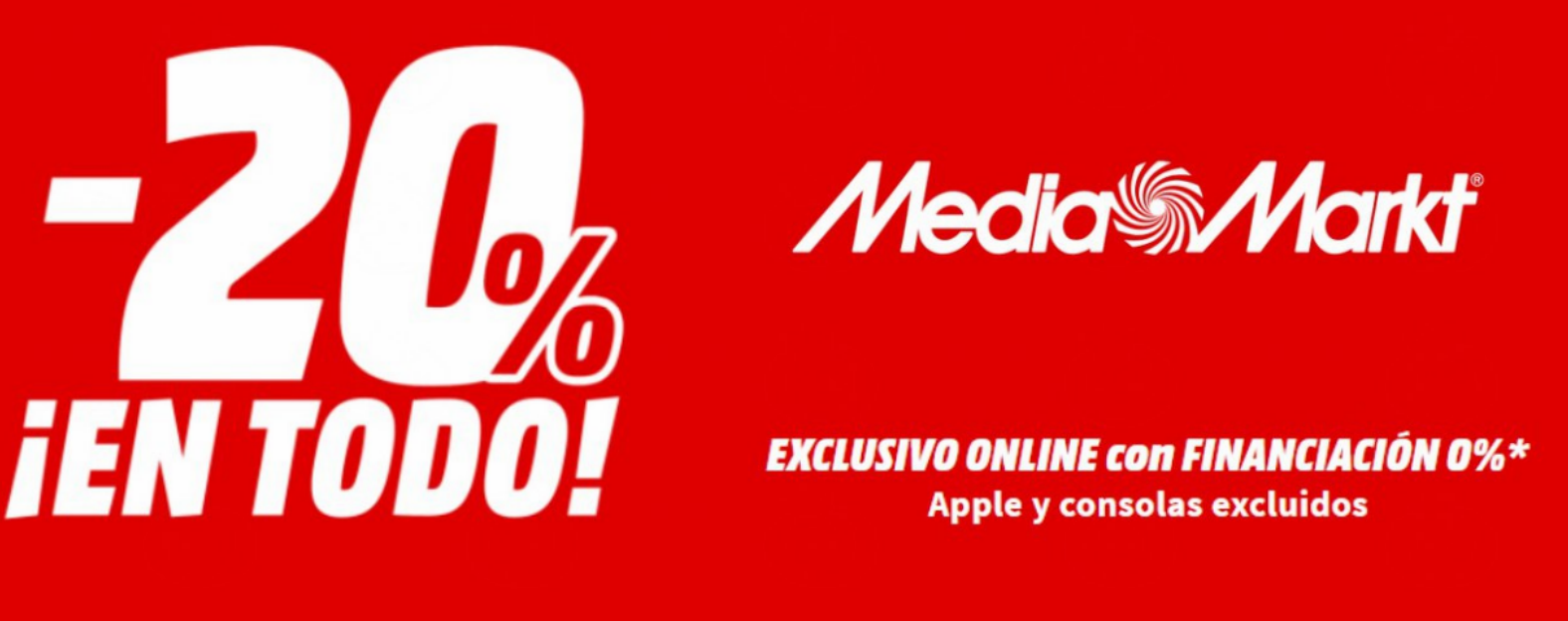 -20% en todo Mediamarkt hasta el 23