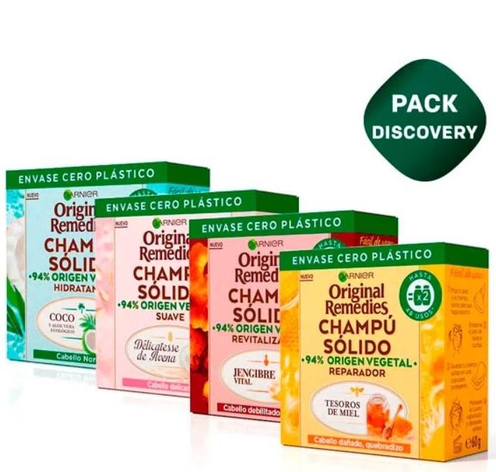 Pack 4 champús sólidos Garnier