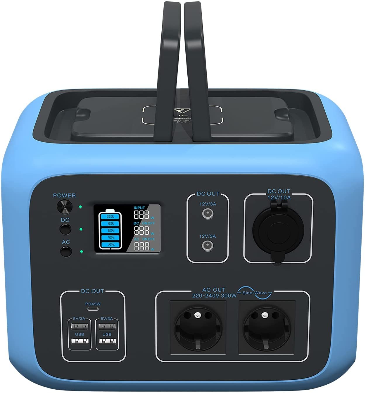 Generador solar PowerOak Bluetti AC50S 500Wh