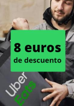 8€ de descuento Uber Eats
