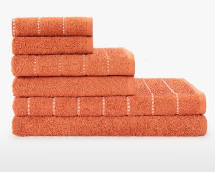 Juego 6 toallas algodón