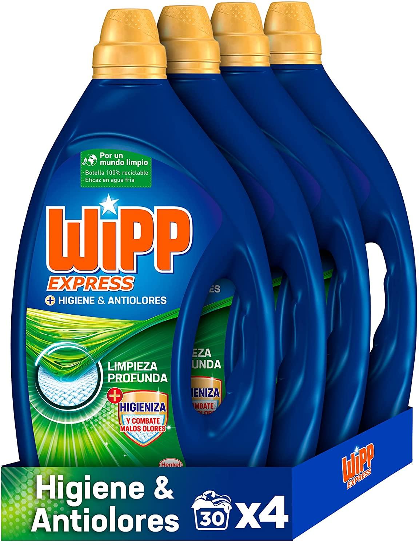 Lote Wipp Express Higiene y Antiolores 120 lavados