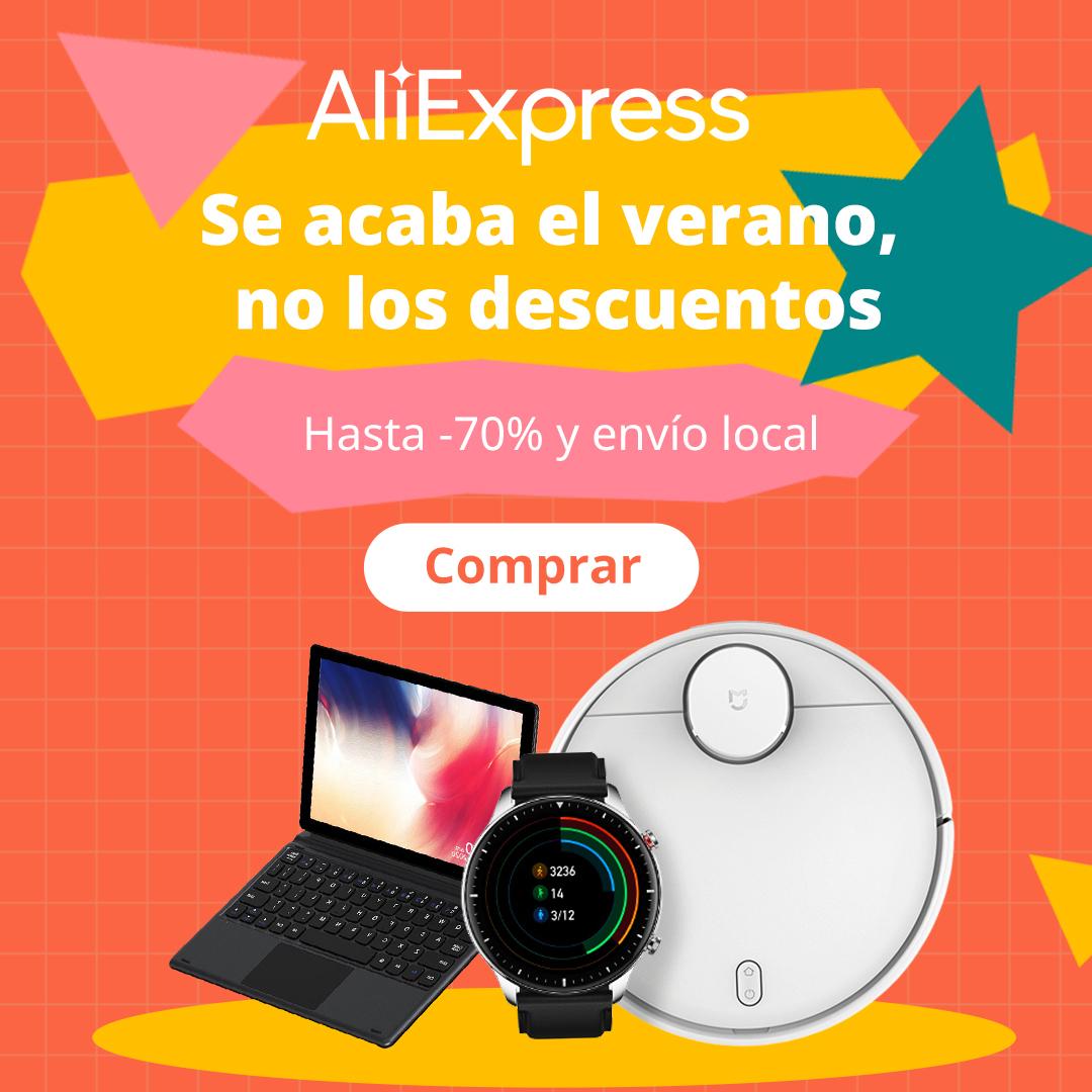 Promoción Fin de Verano Aliexpress - ¡Se acaba el verano, no los descuentos!