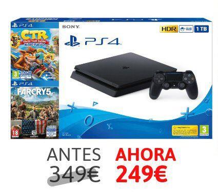 PS4 1TB + CTR Nitro Fueled + Far Cry 5