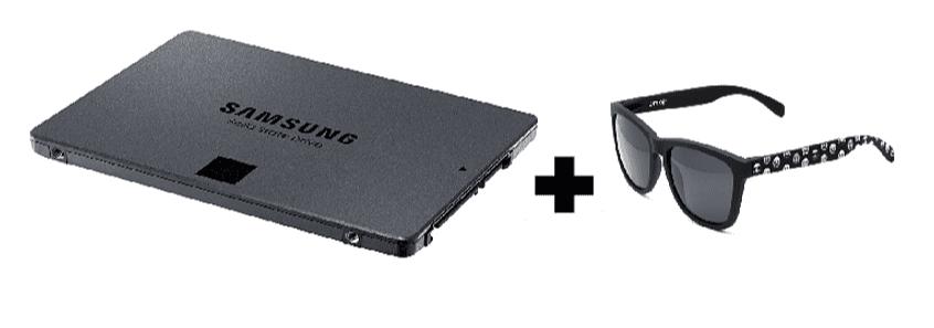 Disco duro SSD Samsung 860 QV0MZ 1 TB + Gafas de sol