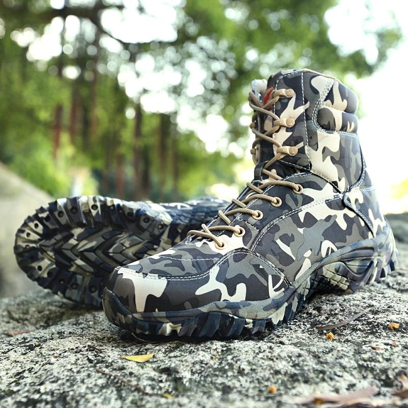 Botas militares y senderismo estilo camuflaje