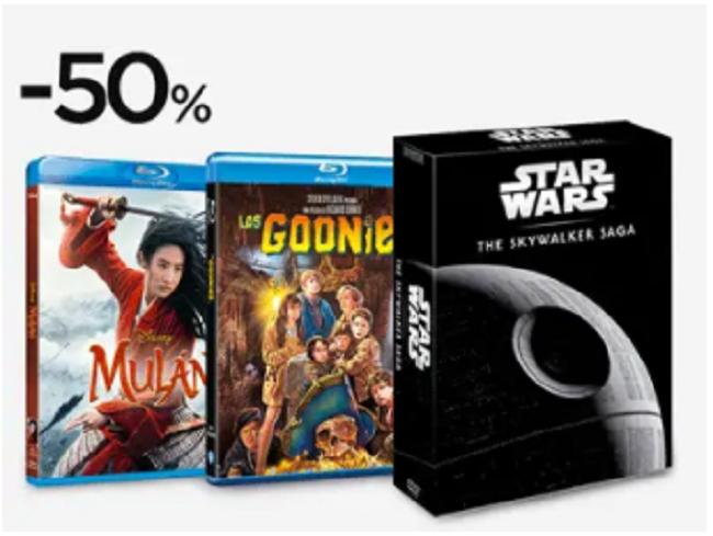Hasta 50% de descuento en cine y series