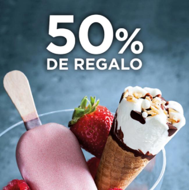 50% de Regalo en Helados