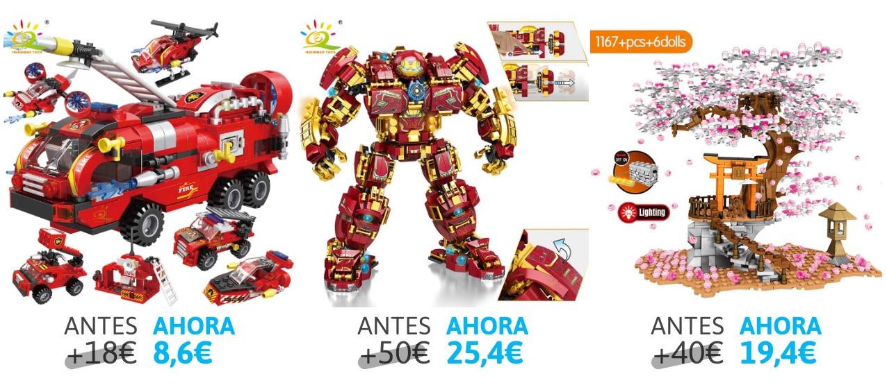 Selección de juguetes para montar