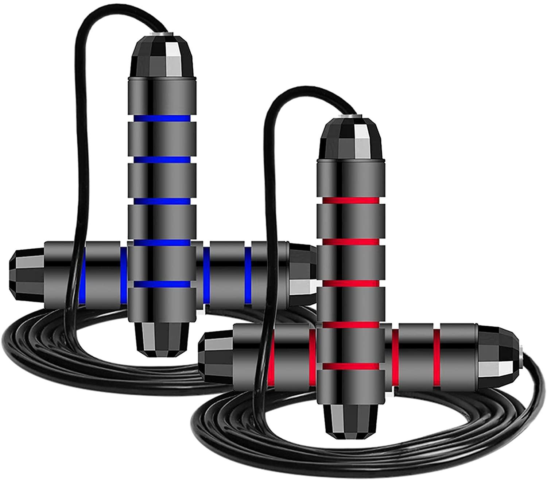 2 cuerdas ajustables para saltar