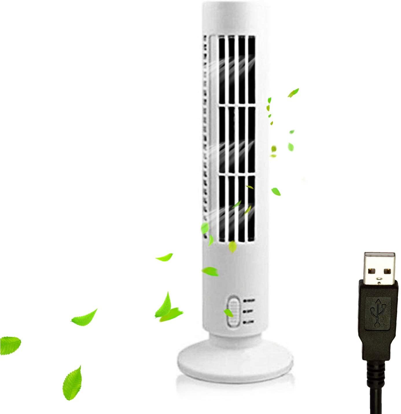 Ventilador de torre silencioso portátil USB para escritorio