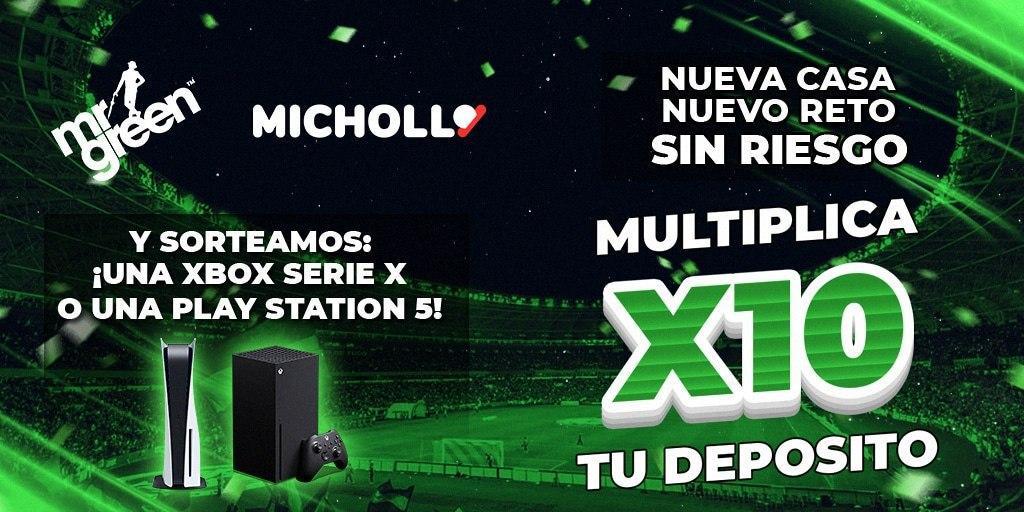 Reto Multiplica x10 tu depósito + Sorteo de una PS5 o XBOX