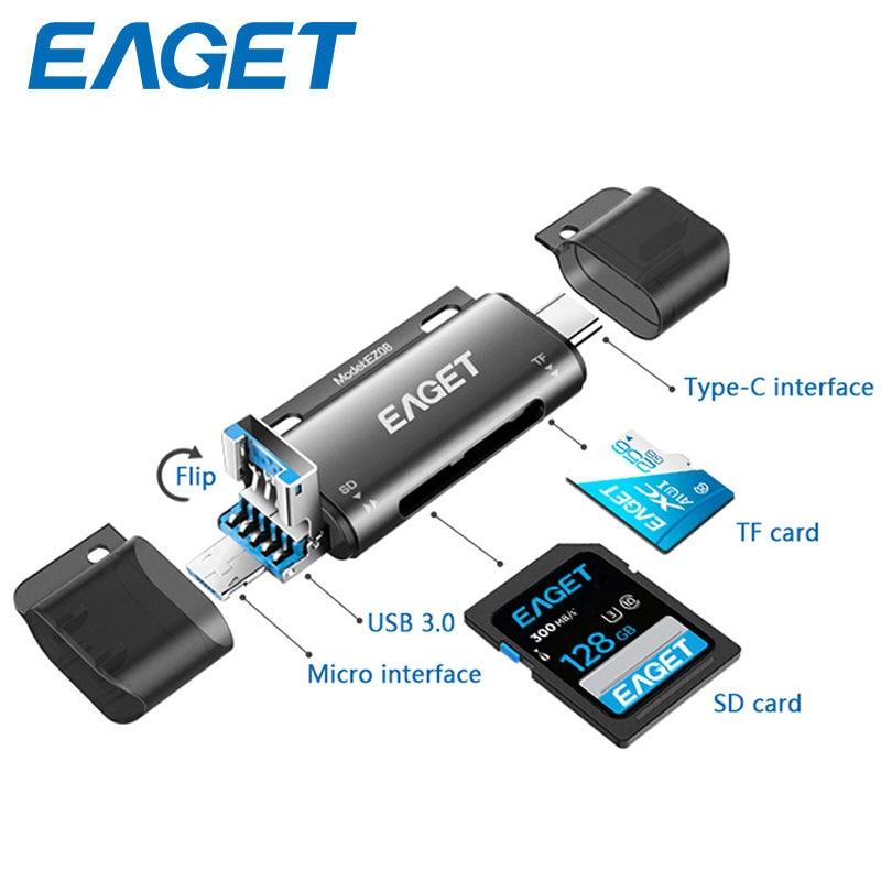Lector de tarjetas USB3.0 + OTG + USB-C