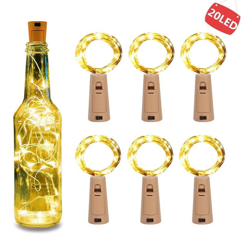 Guirnalda de LED para botellas