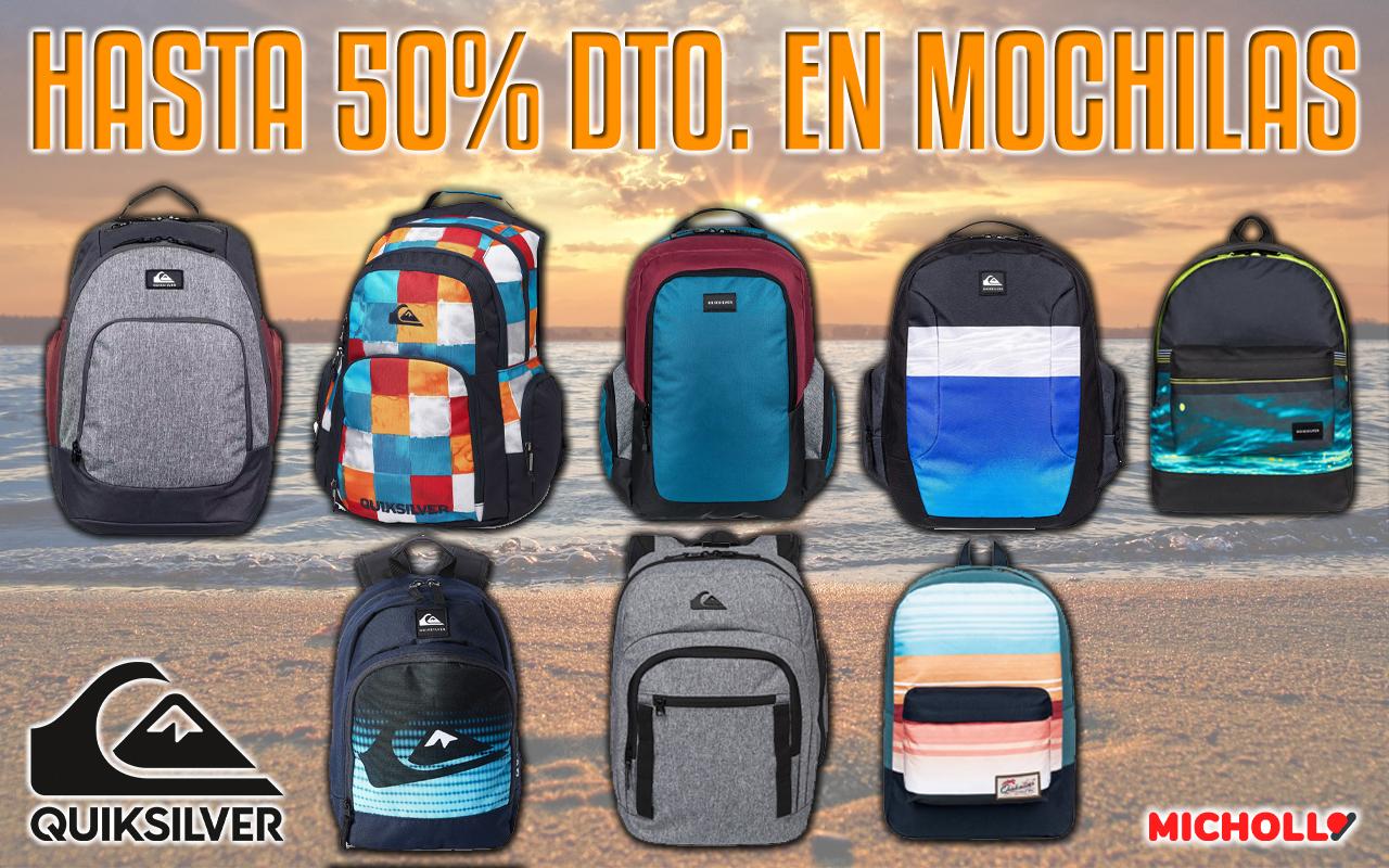 50% dto. en mochilas Quiksilver