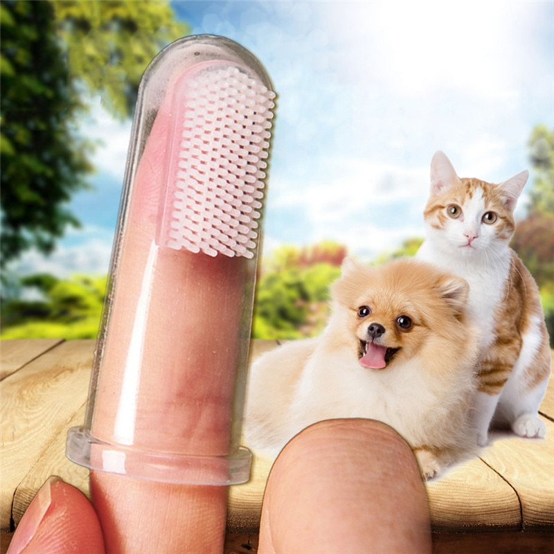 2x Cepillo de dientes para mascotas