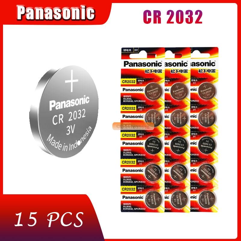 Pack 15 pilas CR2032 Panasonic