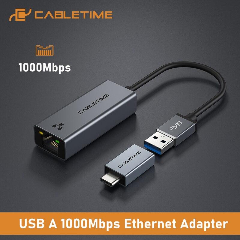 Adaptador Ethernet USB3.0 a Ethernet Gigalan Cabletime