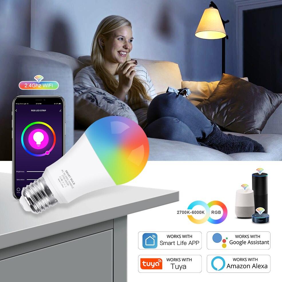 Bombilla LED RGB+W 12W WiFi