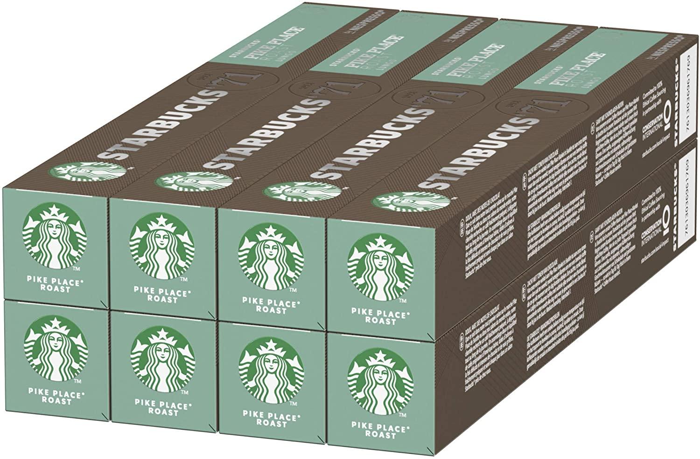 8x10 tubos de cápsulas de café Starbucks  Pike Place