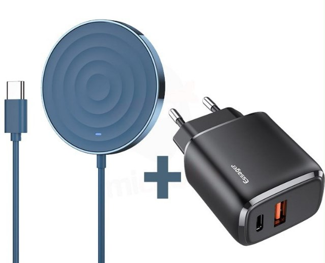 Cargador Inalámbrico 15W + Cargador Dual QC USB-C 20W Essager