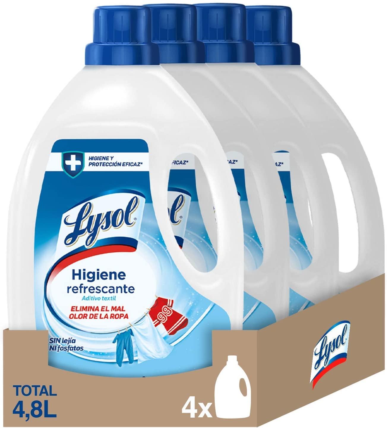 Pack 4 Higienizante textil para la ropa Lysol