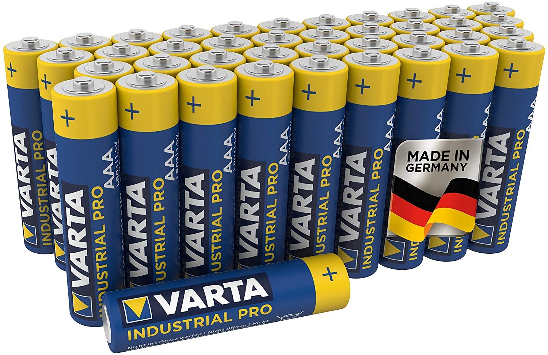 40 Pilas Varta Industrial Pro AAA