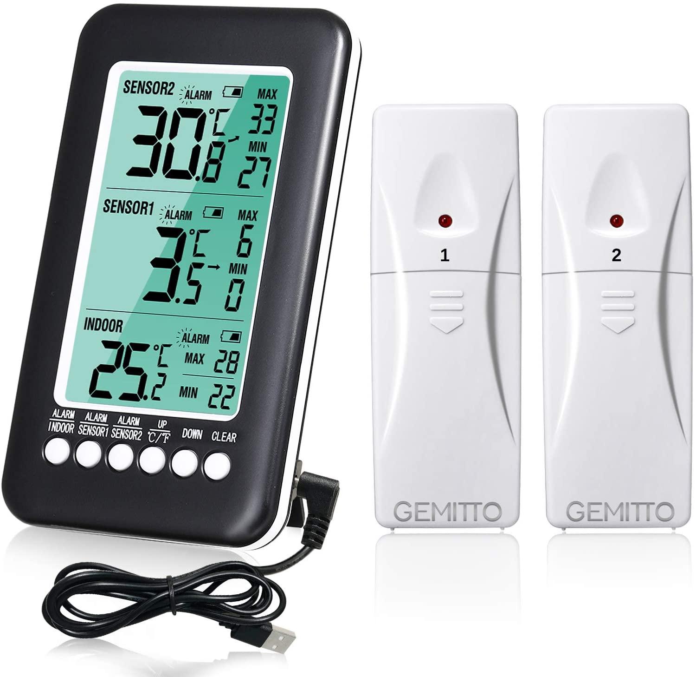 Termómetro interior y exterior LCD