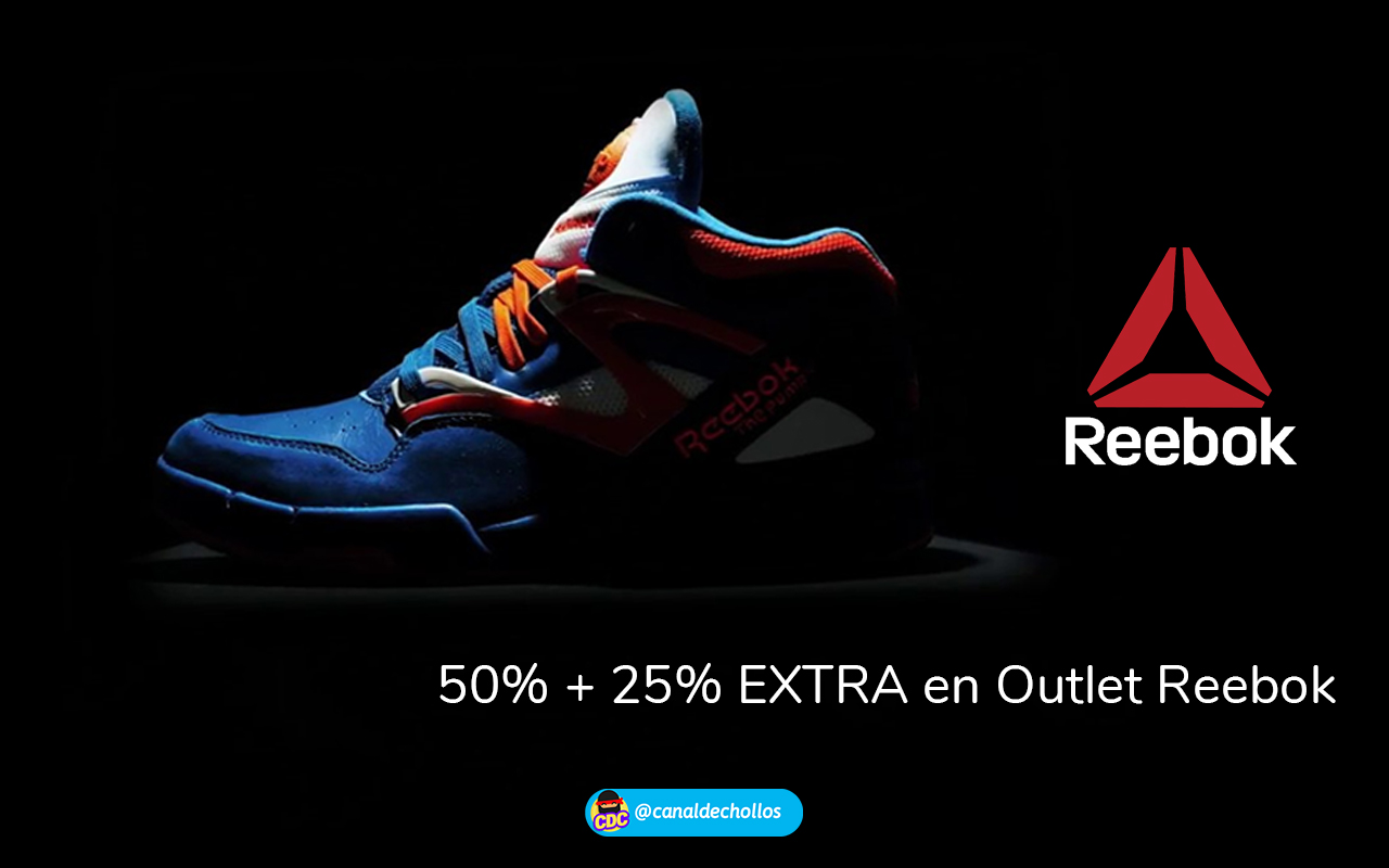 Hasta 50% de dto. + 25% EXTRA en Outlet Reebok