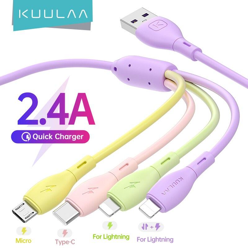 Cable 4 en 1 Kuulaa 2.4A