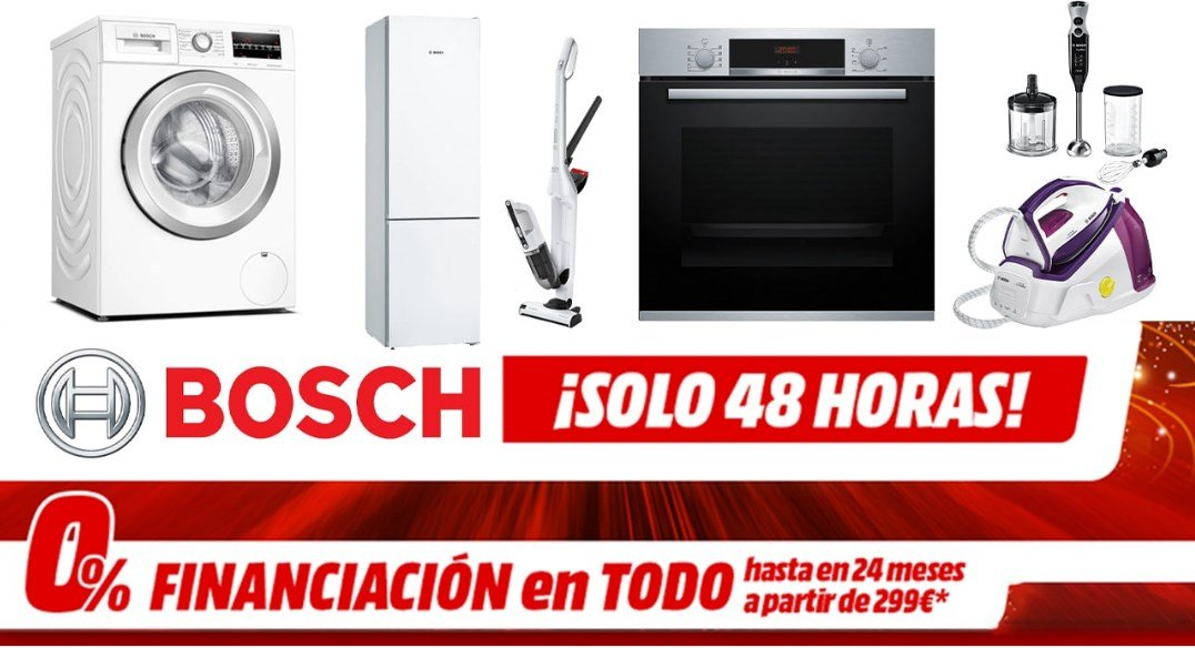 Promoción 48h Bosch en Mediamarkt