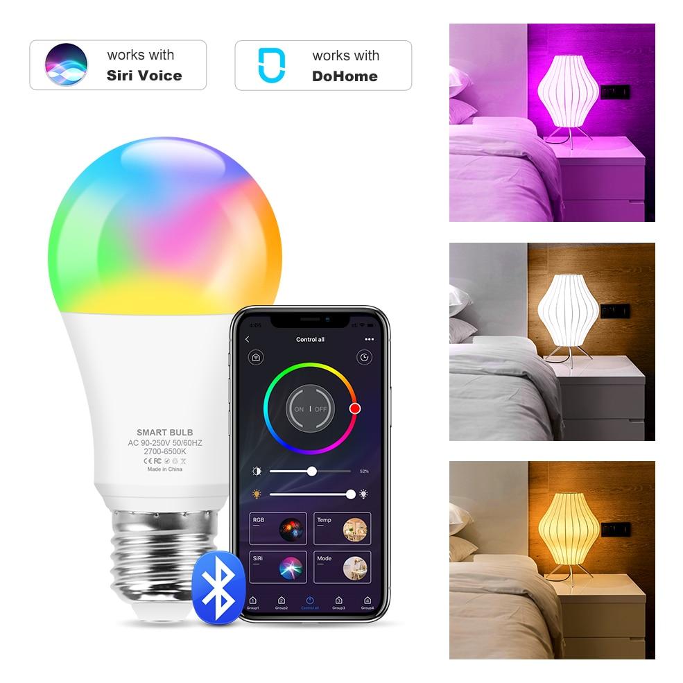 Bombilla Inteligente RGB+W compatible con Siri